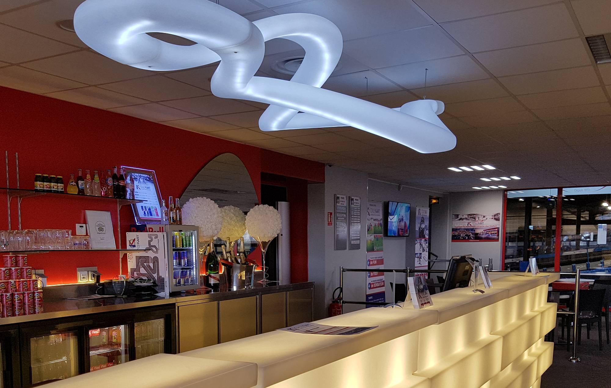 espace bar et restauration karting lyon