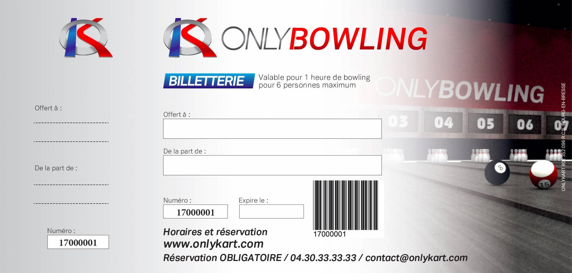 chéquier bowling lyon tarif spécial CE