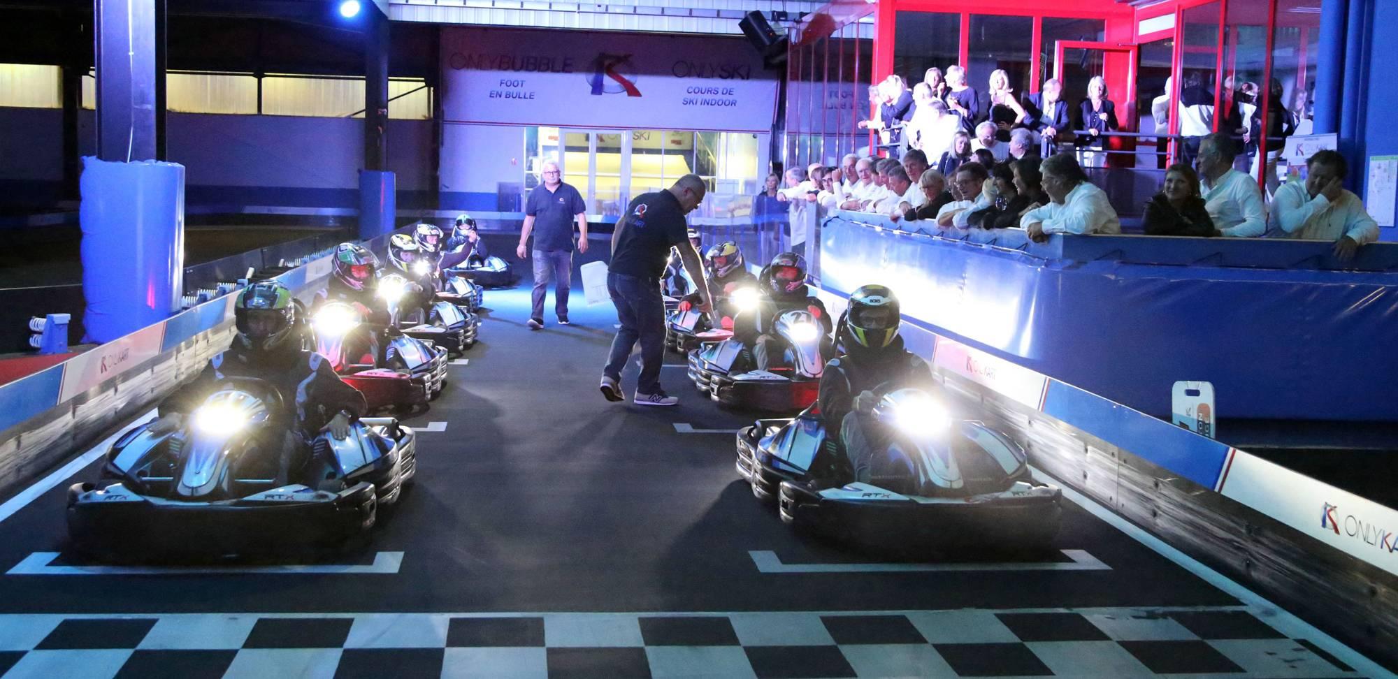 challenge karting pour séminaire entreprise à lyon