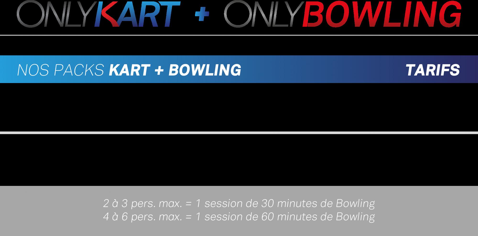 Pack karting + bowling près de lyon