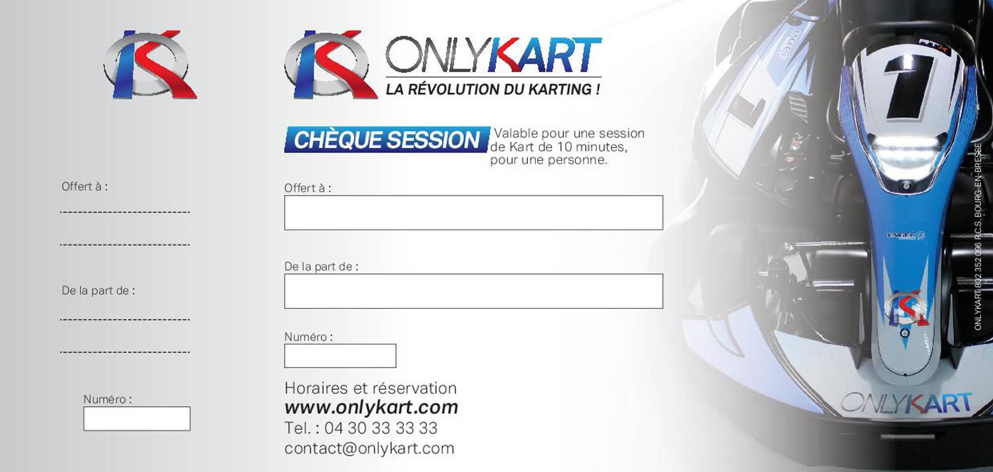 chèque cadeau session karting lyon