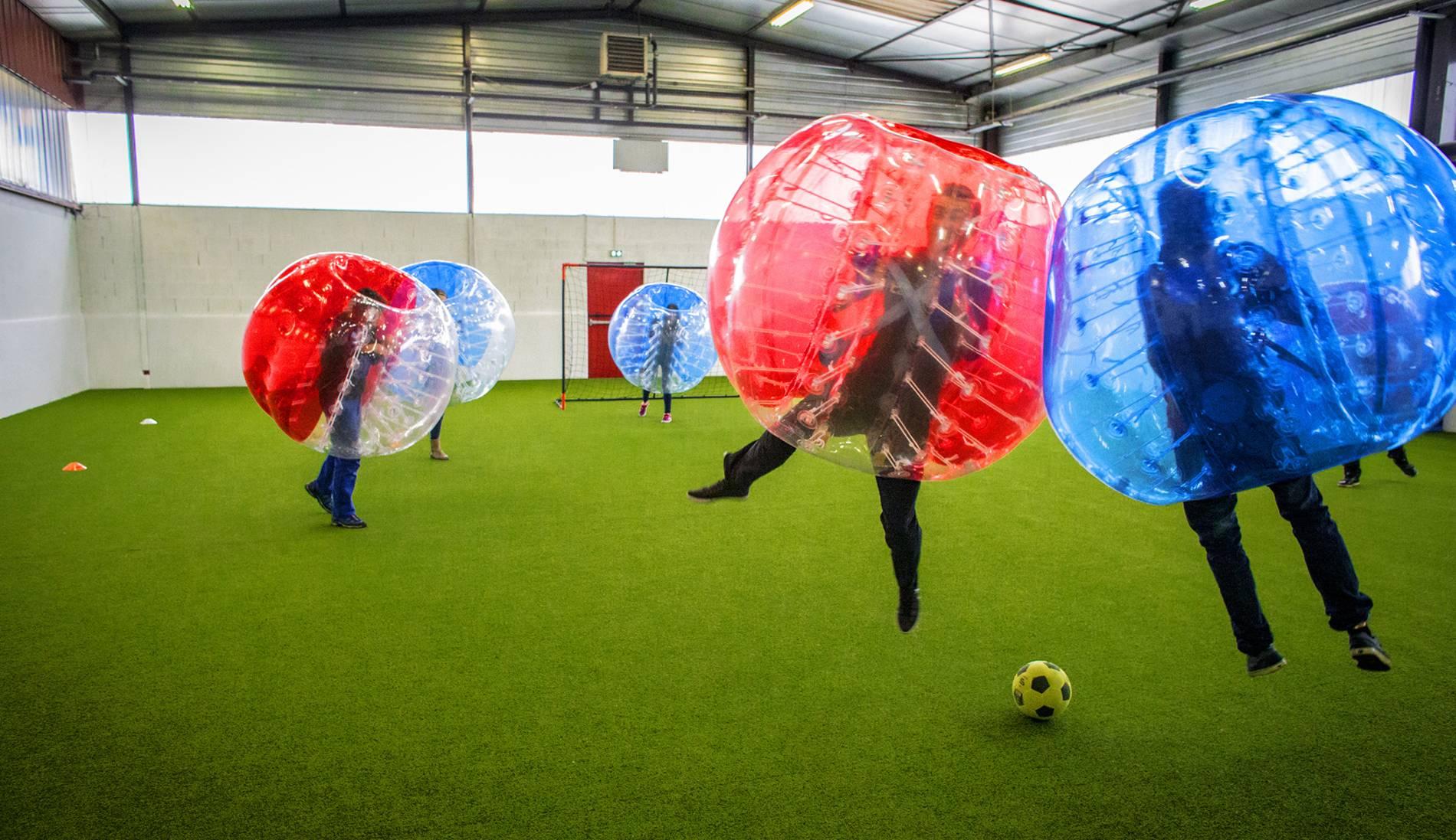foot en bulle à côté de lyon