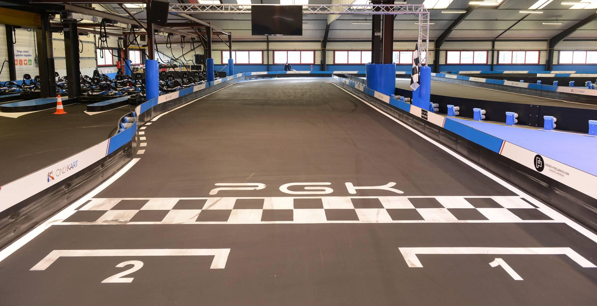 départ de la piste de karting