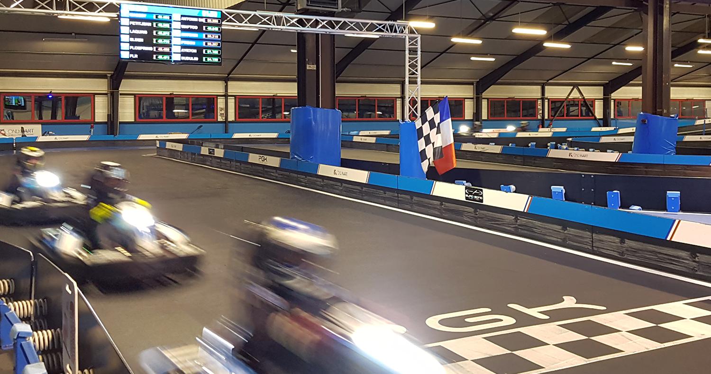 pilotez en sens inverse sur circuit de karting