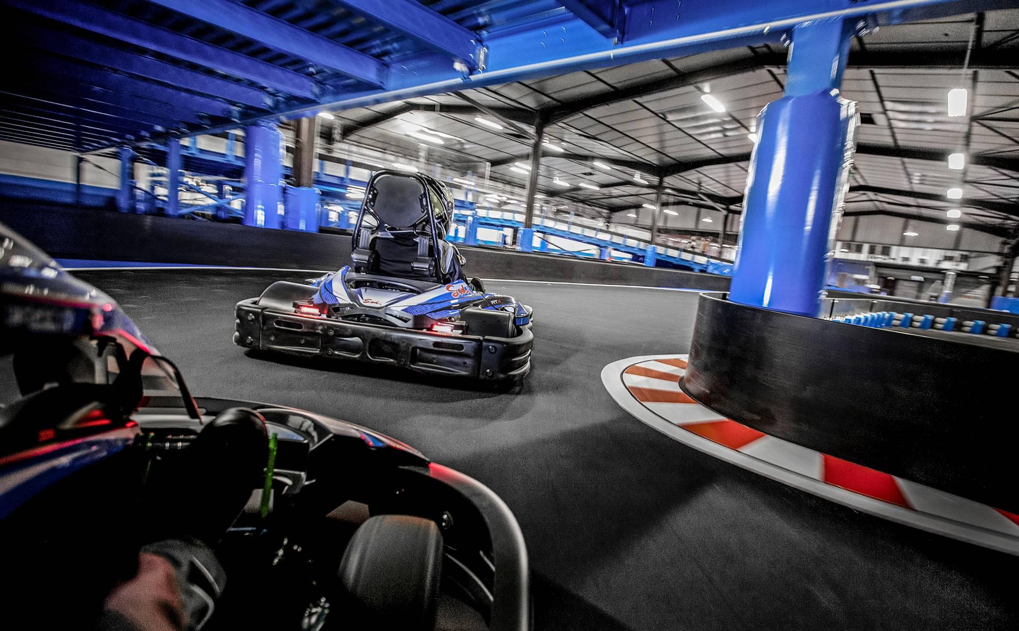 piste de kart multi-niveaux à lyon